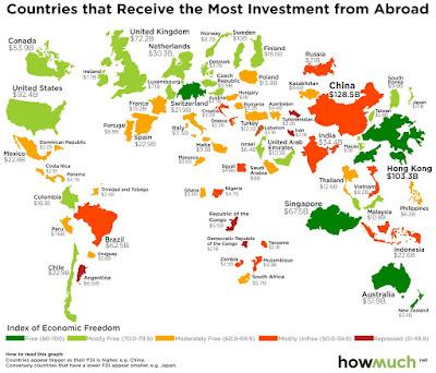 対内投資 世界地図 マップ