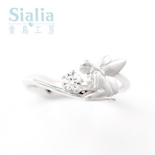 仙女手捧著象徵愛情的魔法鑽石