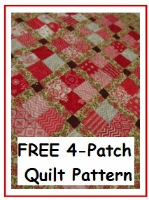 hot to make a Four-patch quilt block free pattern