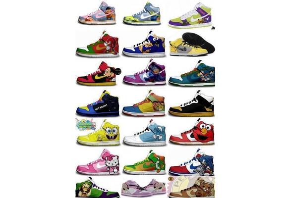 6c58842d876a Nike Dunks Custom Design Sneakers   Various Colorful Nike Dunks ...