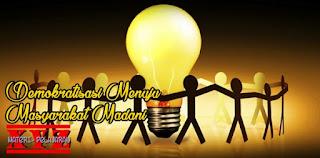 masyarakat madani, demokratisasi menuju masyarakat madani. | www.materi-pelajaran.xyz