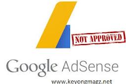 Inilah 5 Alasan Blog Kita Selalu Ditolak Google Adsense