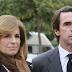 Aznar acude a la procesión de la Virgen que porta el fajín de Franco