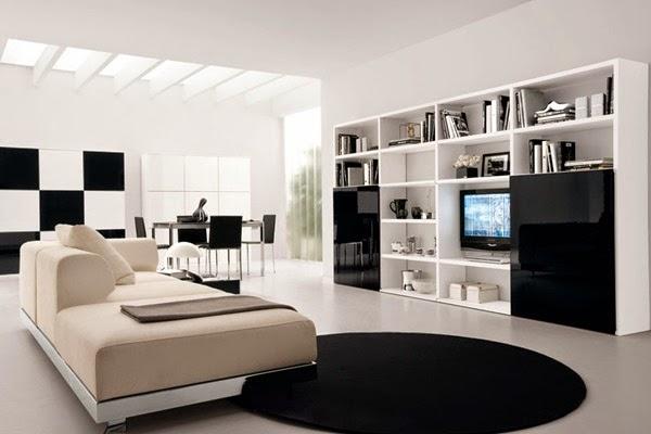 Dise os salas minimalistas blanco y negro salas con estilo for Salas minimalistas pequenas