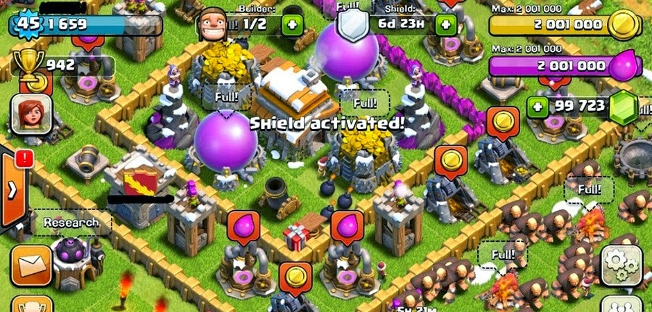 clash of clans unlimited gems gold download