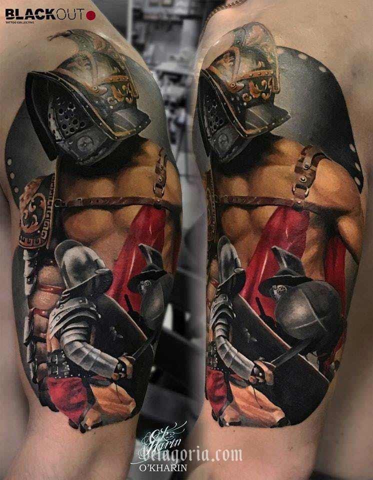 Impresionantes Tatuajes De Gladiadores Fuerza Y Honor Belagoria
