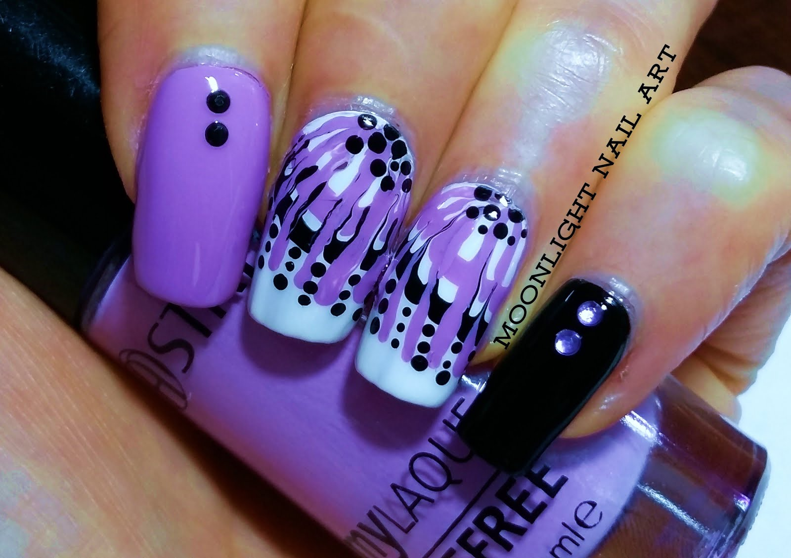 Easy Drag Marble Nail Art Toothpick Tutorial