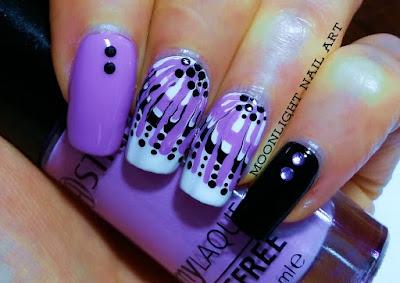 Drag marble nail art: toothpick nail art