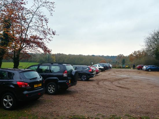 The car park at Gobions Open Space - Saturday November 24, 2018  Image by North Mymms News released under Creative Commons