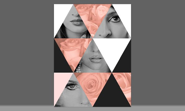 Free Geometric Collages Actions For Photo And Elements