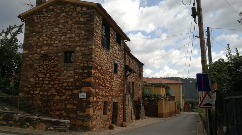 Casas de alvenaria de Xisto