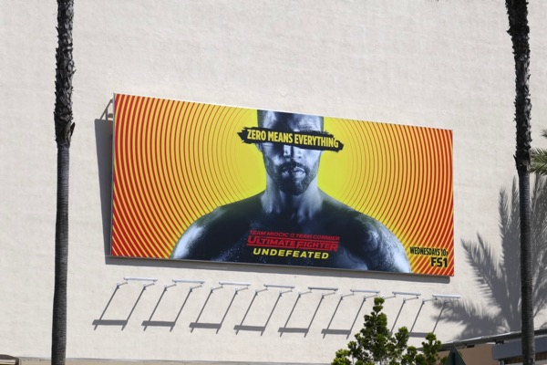 Ultimate Fighter Undefeated billboard