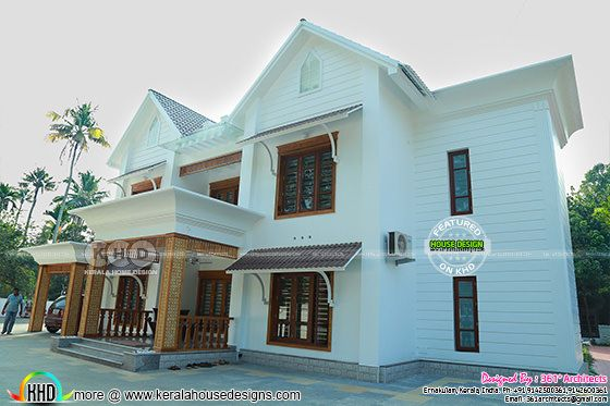 Kerala style Finished home elevation view 3