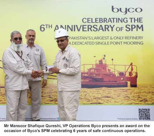 Byco's SPM Imports 10 million tons of POL products; celebrates 6 years of safe operations -