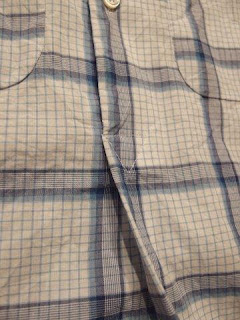 "FWK by Engineered Garments ""Irving Shirt in Lt.Blue/White Windowpane"""