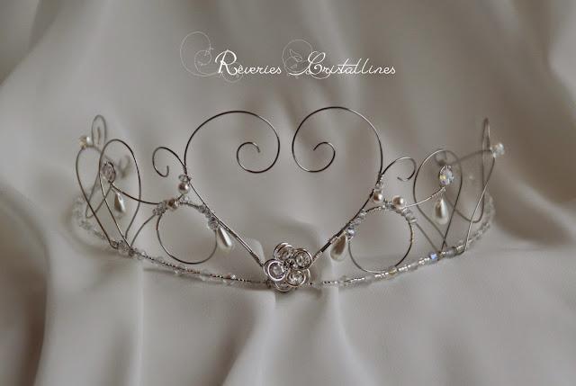 couronne princesse argentée