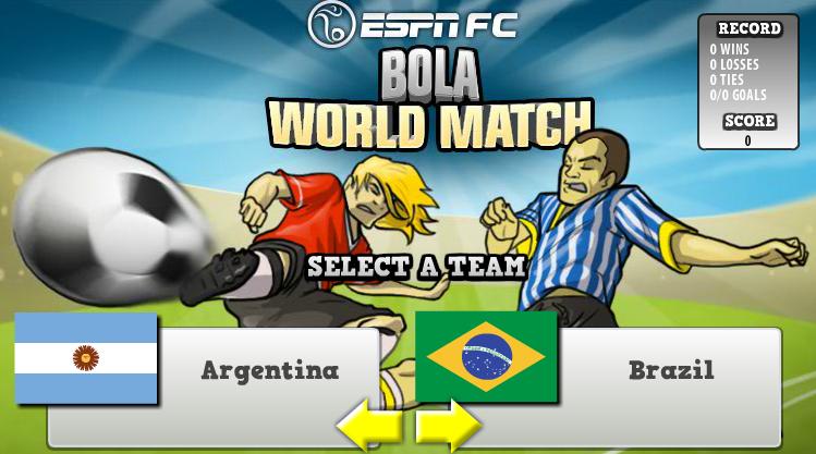 Play Bola World Match - Online 3d Games