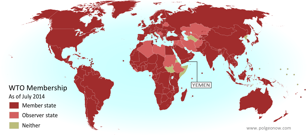 Map: Yemen Joins WTO - Political Geography Now