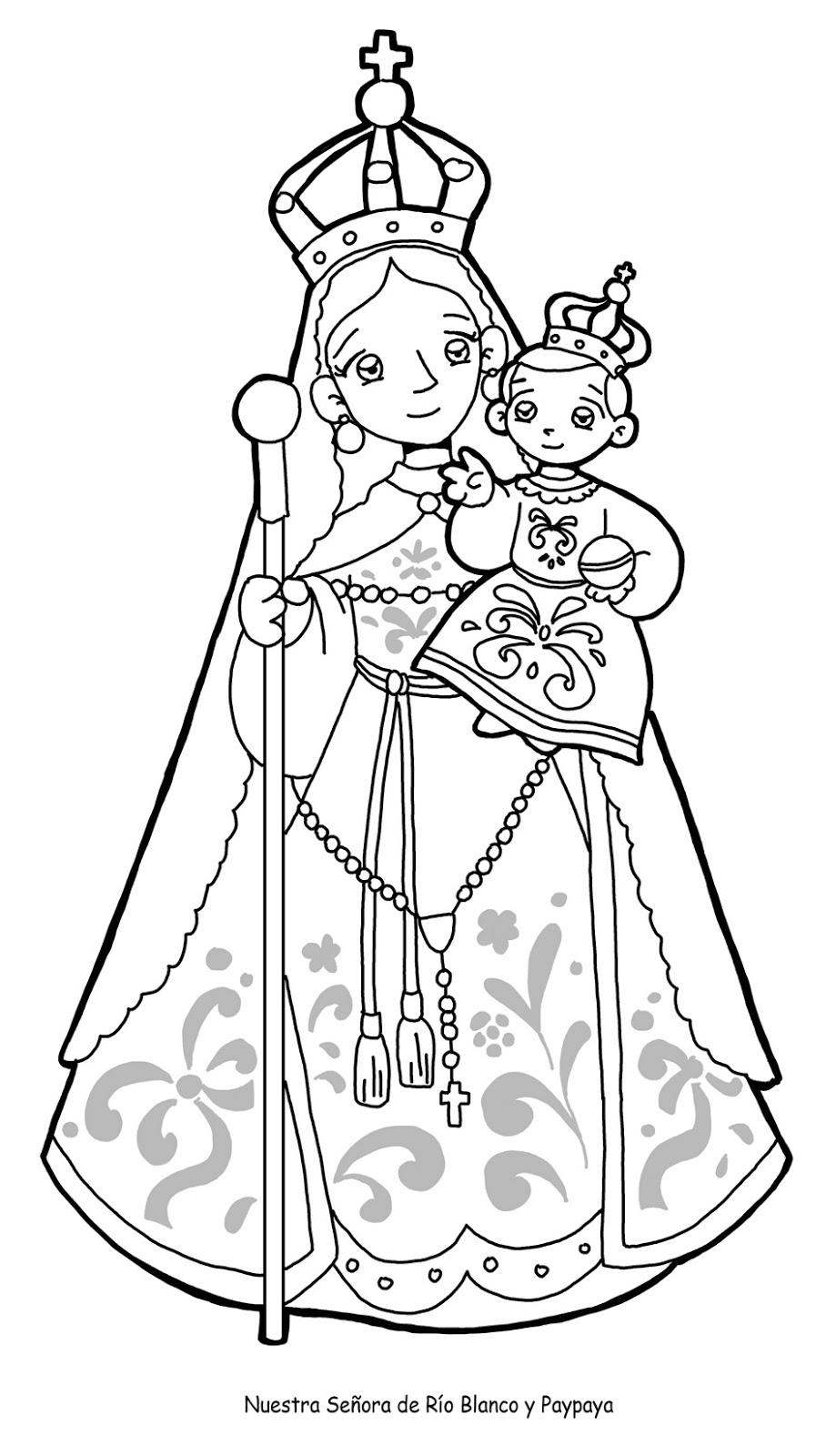 Dibujos Para Catequesis Nuestra Se 209 Ora Del Rosario De R 205 O Our Of Guadalupe Coloring Page
