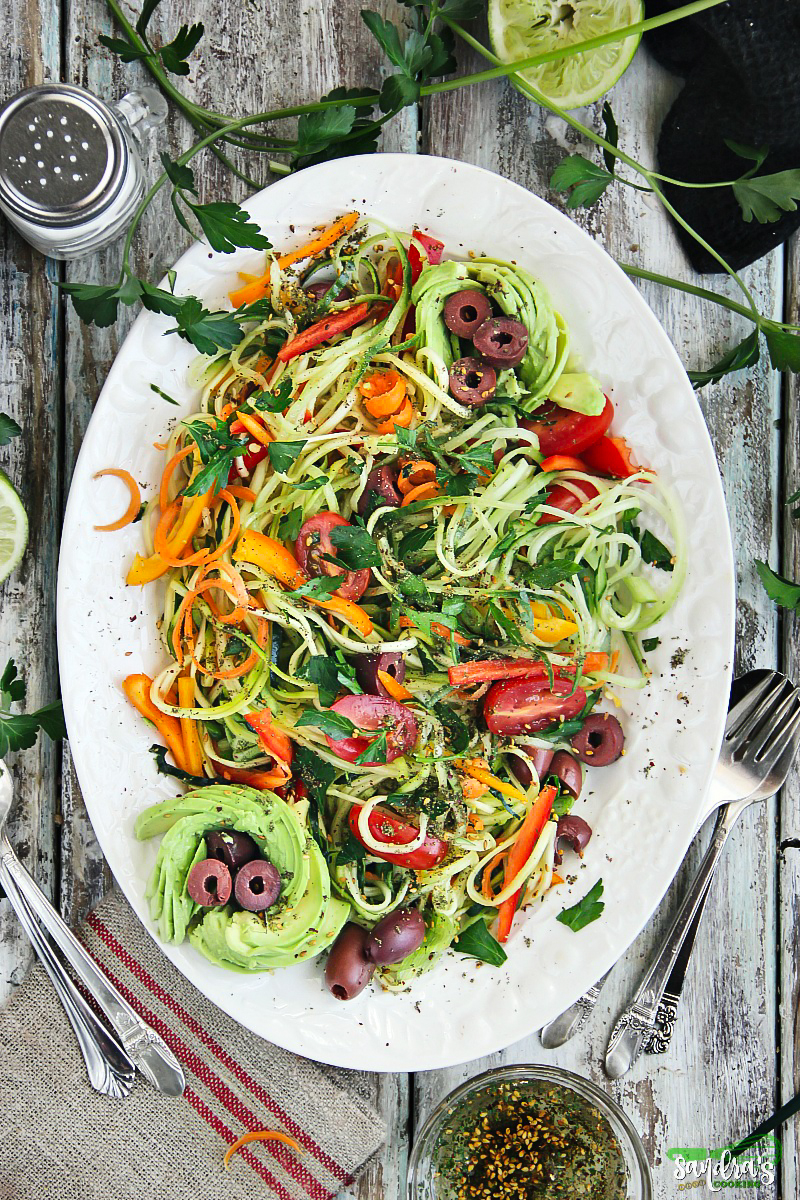 Zesty Zoodle Salad Recipe
