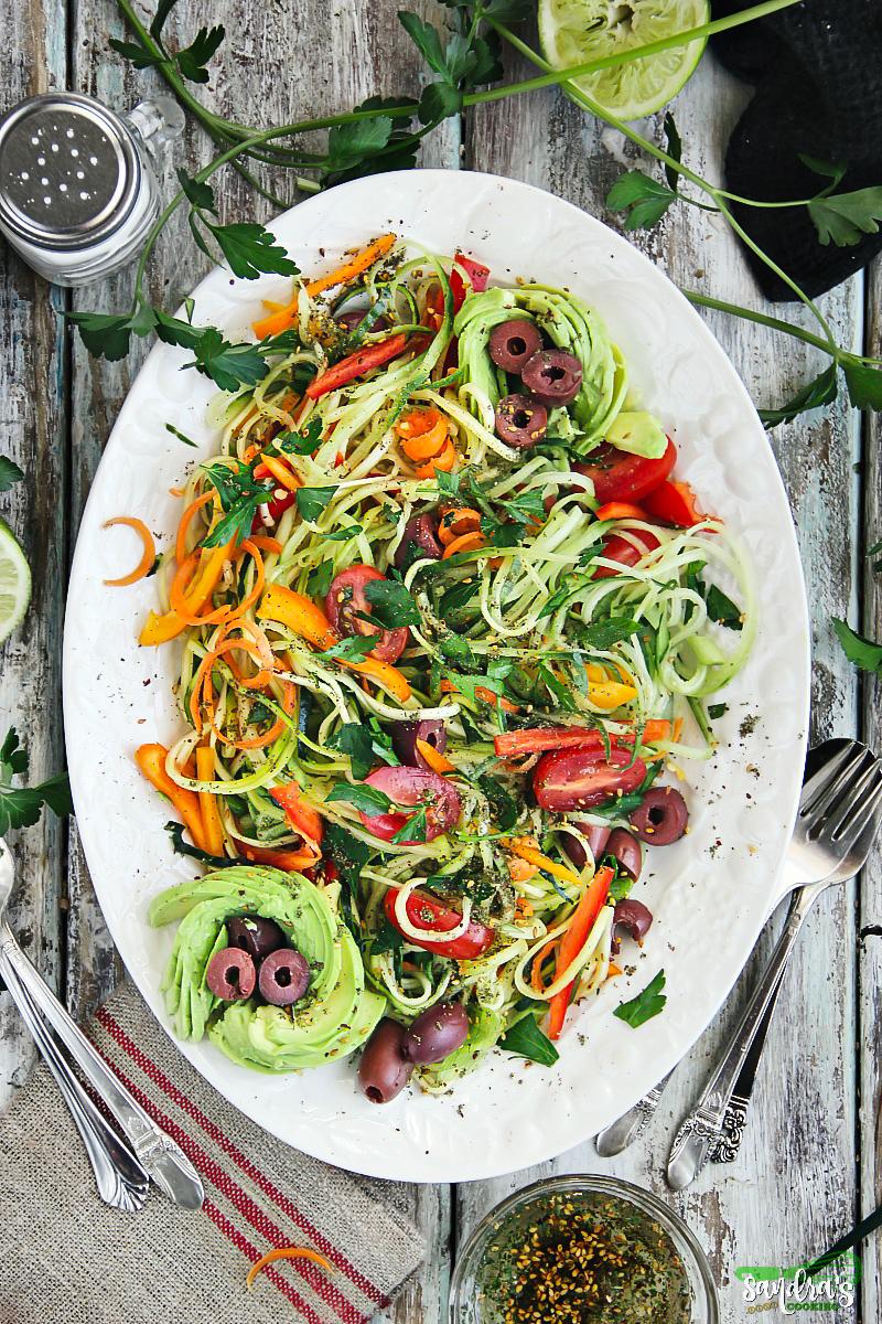 Zesty Zoodle Salad Recipe