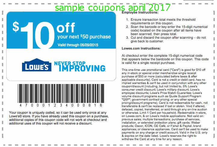 Lowe's printable coupons are a little more exclusive and hard to come by then online coupons. They have similar discounts as lowes online promo codes, with the most sought after deal being the elusive 20% off coupon.