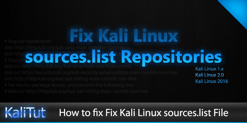 Kali Linux sources.list