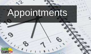 Appointments on 1st July 2020