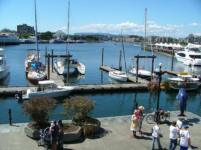 Inner Harbor dock at Victoria British Columbia