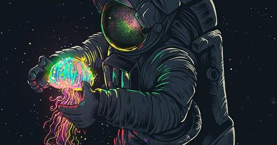 Glowing Spaceman Wallpaper Engine Download Wallpaper