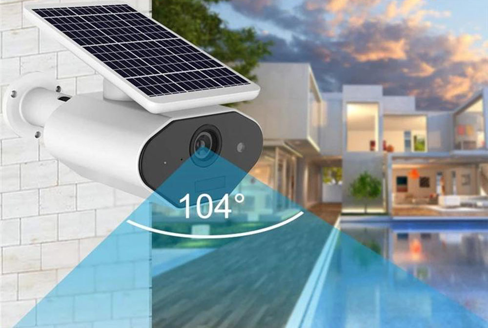 Solar powered security cameras are recommended if you don't have access to a power source.