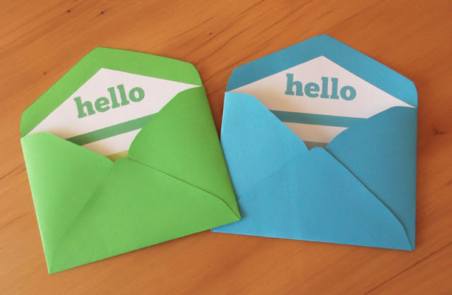 green and blue printable envelopes