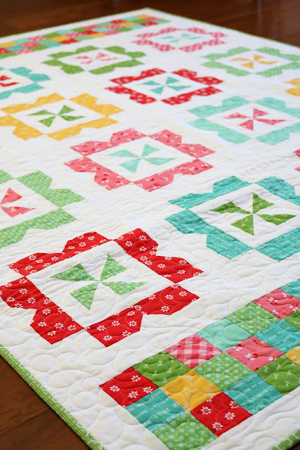 Sweet Wishes quilt pattern from the Fresh Fat Quarter Quilts Book by Andy Knowlton of A Bright Corner - made using Lori Holt fabrics from Riley Blake Designs