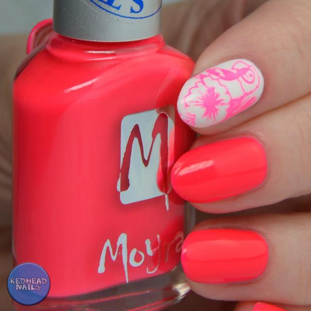 Moyra neon stamping polish