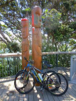 Bicycles, totem poles
