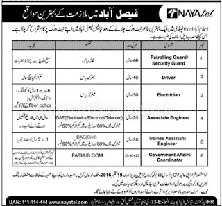 jobs in Naya Tel Rawalpindi Islamabad For Middle to FA