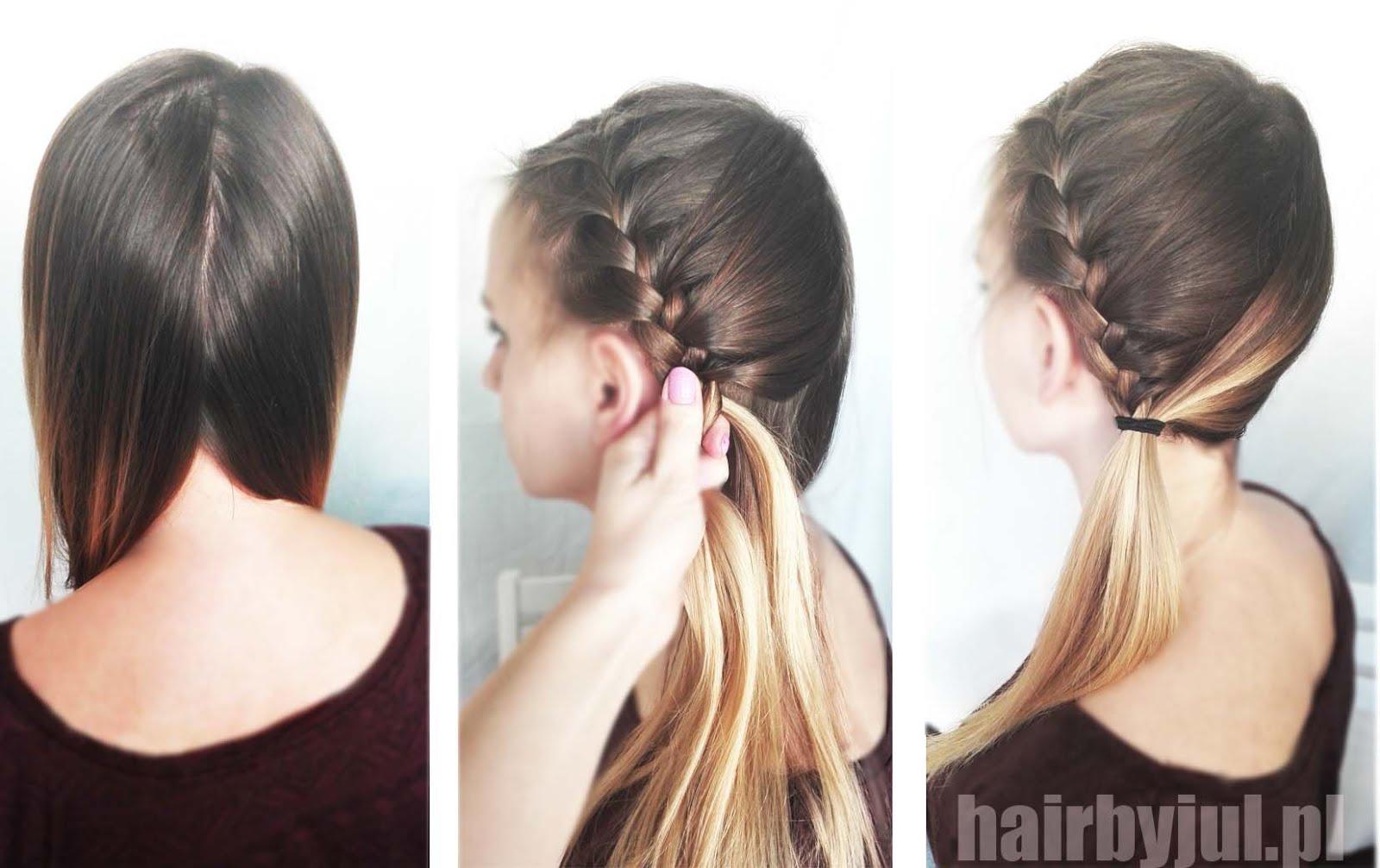 3 Fryzury Pod Czapkę Hair By Jul Fryzury Krok Po Kroku