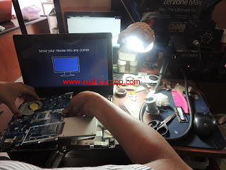 Service Laptop Lenovo G40-45 Mati Kena Air