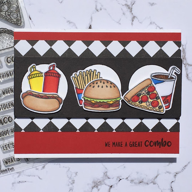 Sunny Studio Stamps: Fast Food Fun Customer Card by Kathy Straw