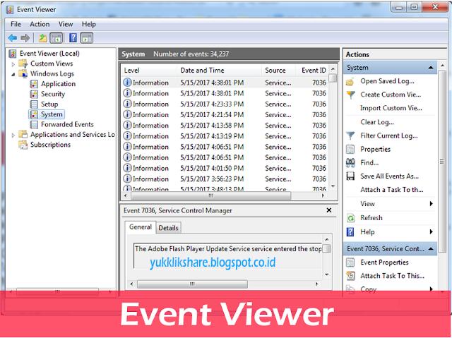 Cara hapus log event viewer