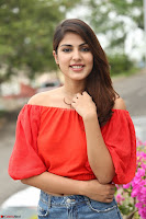 Rhea Chakraborty in Red Crop Top and Denim Shorts Spicy Pics ~  Exclusive 051.JPG