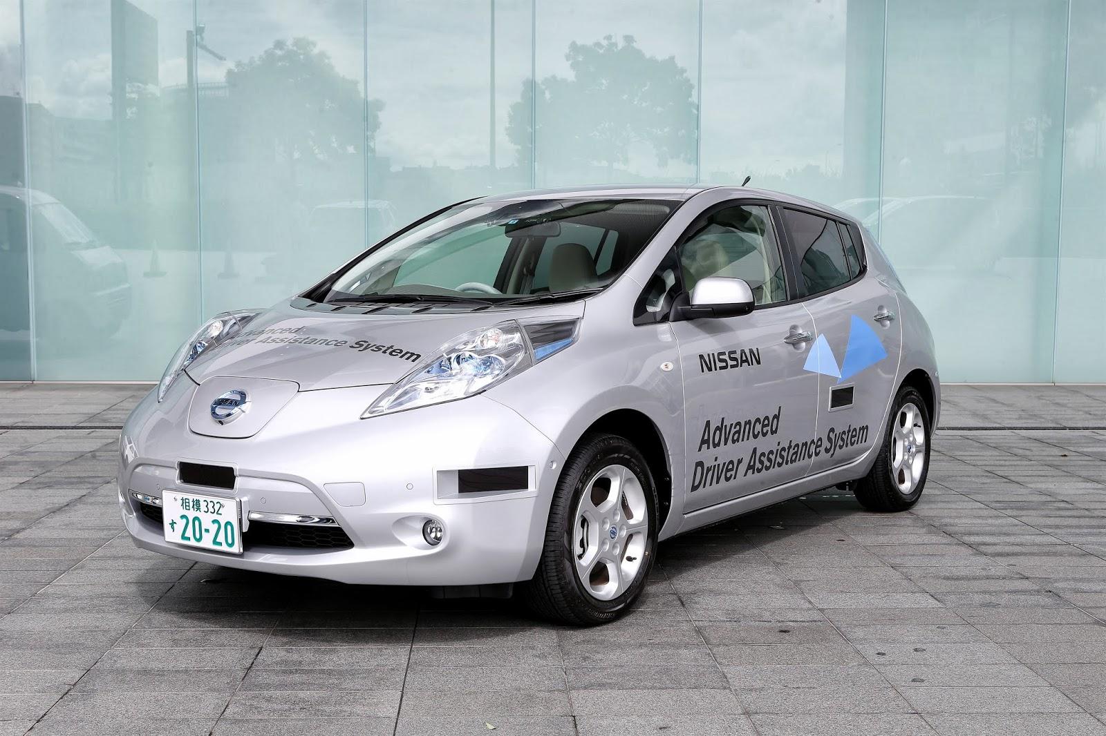 Autonomous Nissan Leaf Gets First License Plate For Public Road Testing