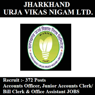 Jharkhand Urja Vikas Nigam Limited, JUVNL, Graduation, Jharkhand, Accounts Clerk, Junior Clerk, Office Assistant, freejobalert, Sarkari Naukri, Latest Jobs, juvnl logo