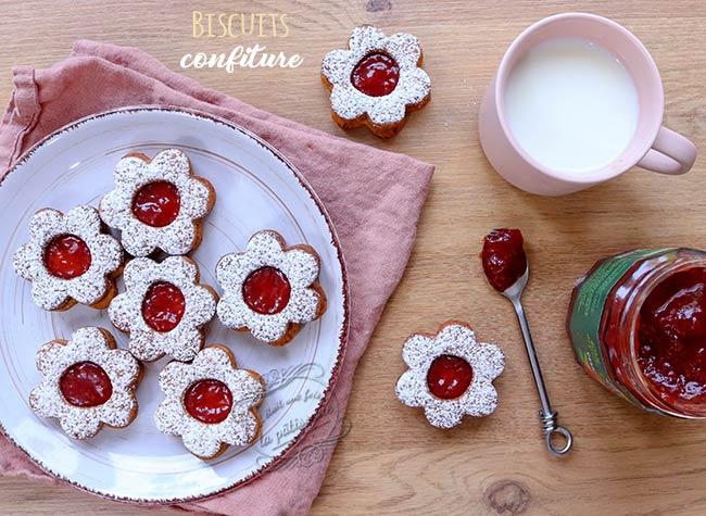 biscuits confiture à la fraise