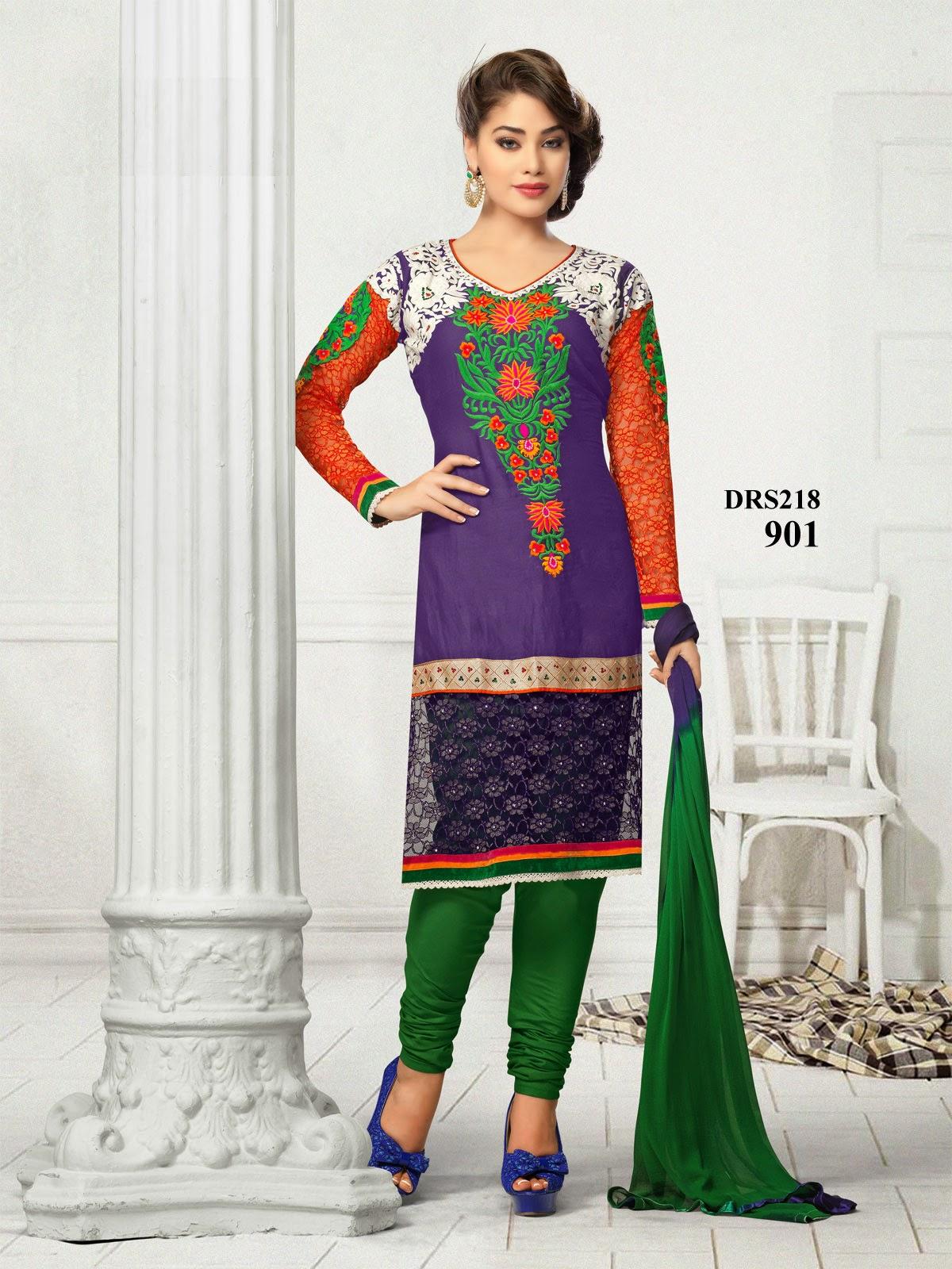 1fd3d65e623 Buy Chanderi Cotton Churidar Dress Material