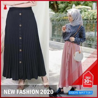 MRTT081R164 Rok Flare Button Skirt Panjang Keren BMGShop