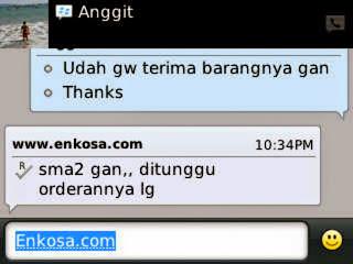 Testimoni enkosa.com atas nama Anggit