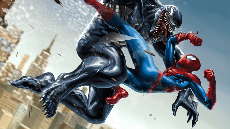 Venom, Spider-Man, Fight, Marvel, 4K, #243