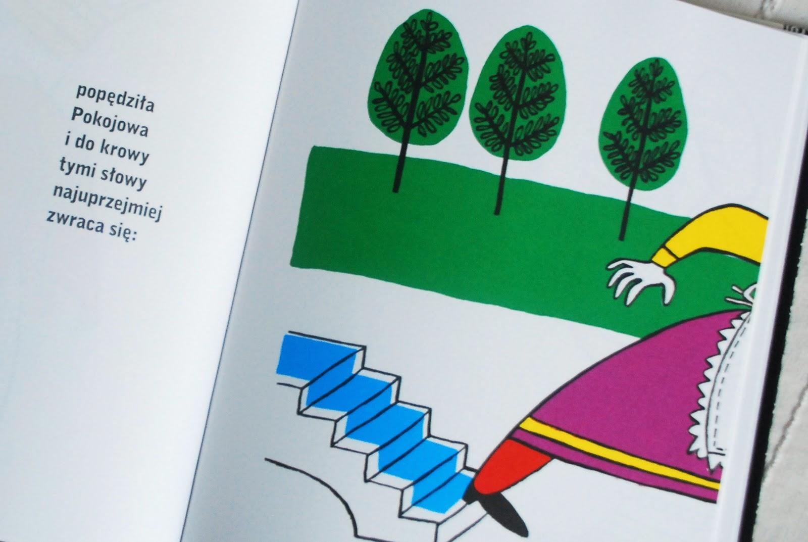 Wnętrze książki – Pokojowa pędzi do krowy
