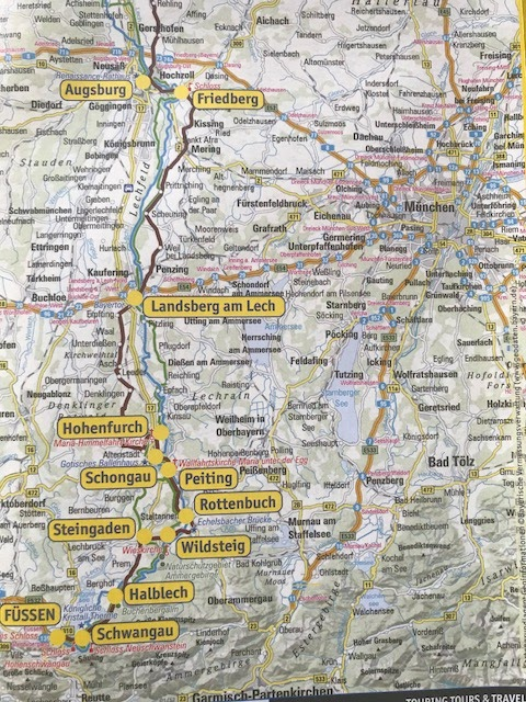 mapa rota romântica